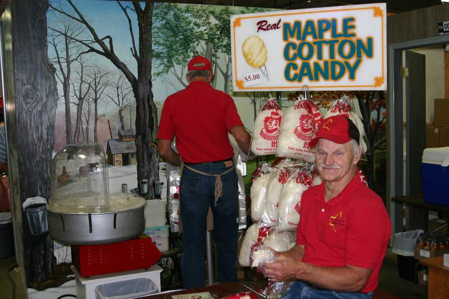 Try a sample of maple cotton candy as you walk by.