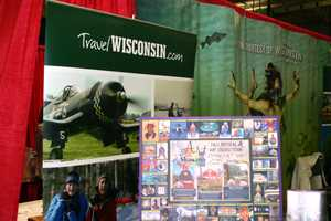 Looking for information on a vacation in Wisconsin?  Stop by the tourism table.