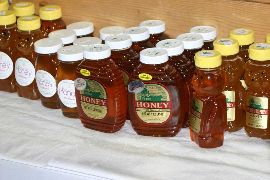 Pure Wisconsin honey is available.