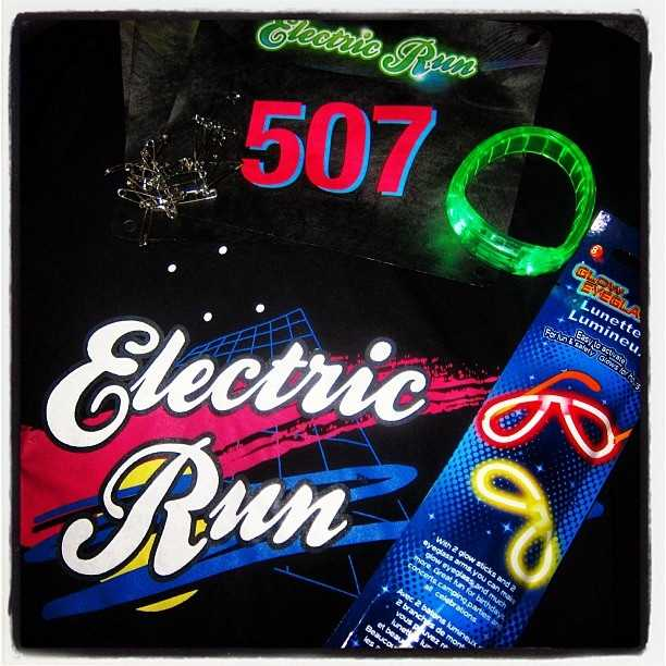 This 5K is lined with glow sticks and neon colors to light the path the runners can use to cross the finish line.
