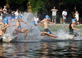 August 24, 2013 Tri Fitness hosts a 400 yard swim, 10 mile bike, 2 mile run in Hudson, WI