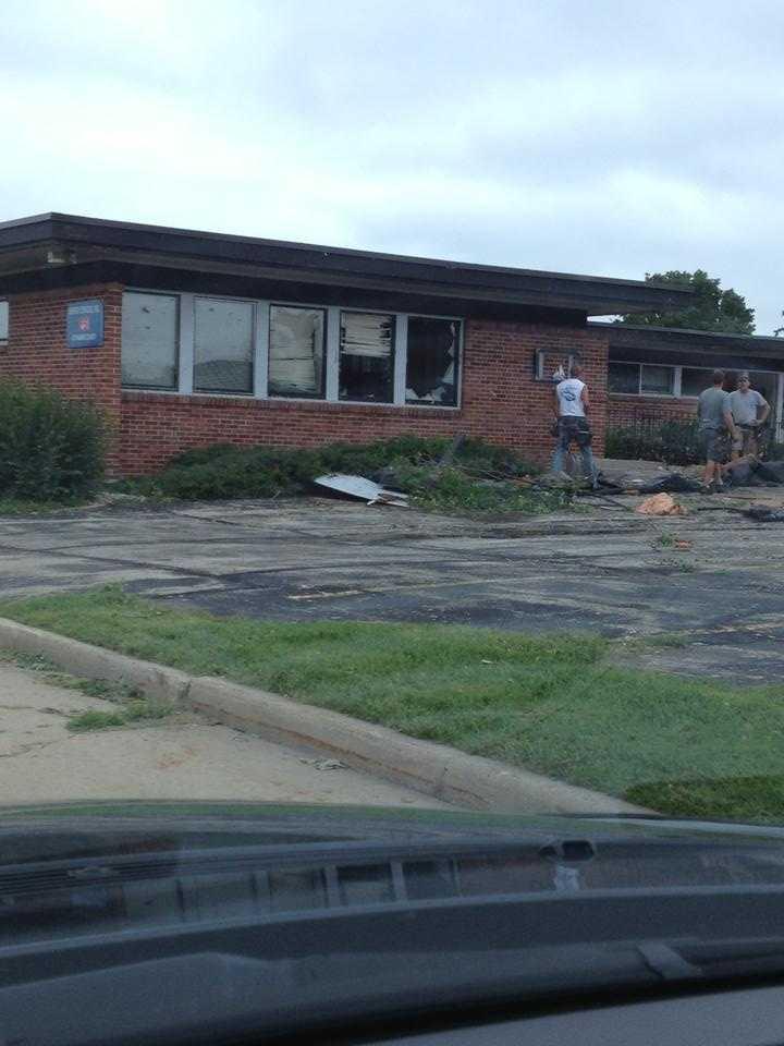 Damage along Northland Avenue in Appleton.