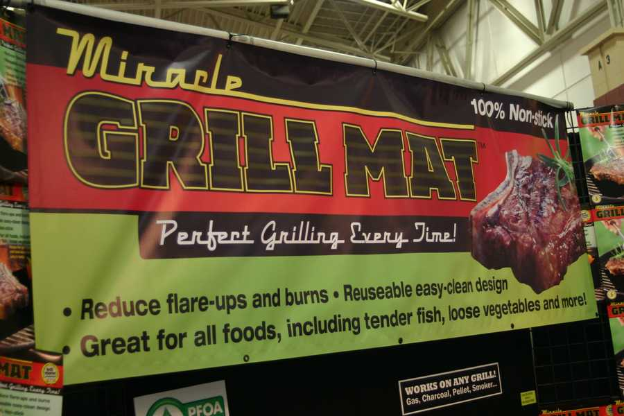 "The Miracle Grill Mat gives you ""perfect grilling every time!"""