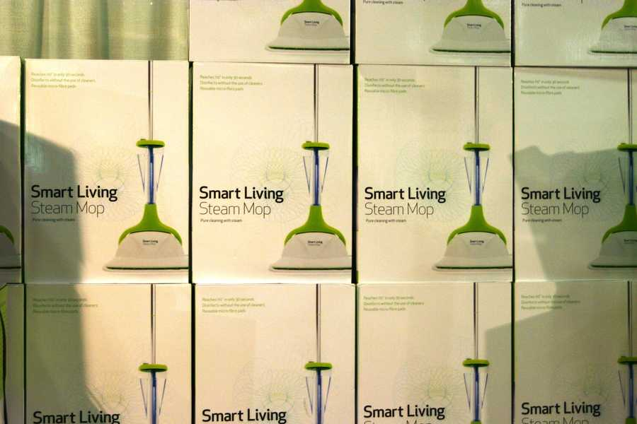 Clean up with the Smart Living Steam Mop.