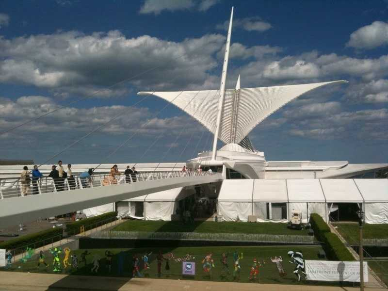 "The Milwaukee Art Museum is an art museum with a collection of over 30,000 works of art serving over 350,000 visitors a year. The campus of three buildings is located on Lake Michigan in Milwaukee, Wisconsin. The Museum's stated mission is to, ""Collect and preserve art, presenting it to the community as a vital source of inspiration and education""."