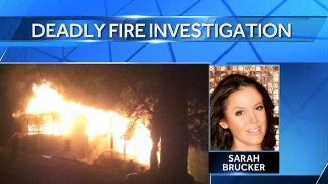 Sarah Brucker died of soot and smoke inhalation.