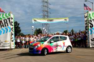 The event was sponsored by Chevrolet and runner's had a chance to win the Color Run car at the end of the race