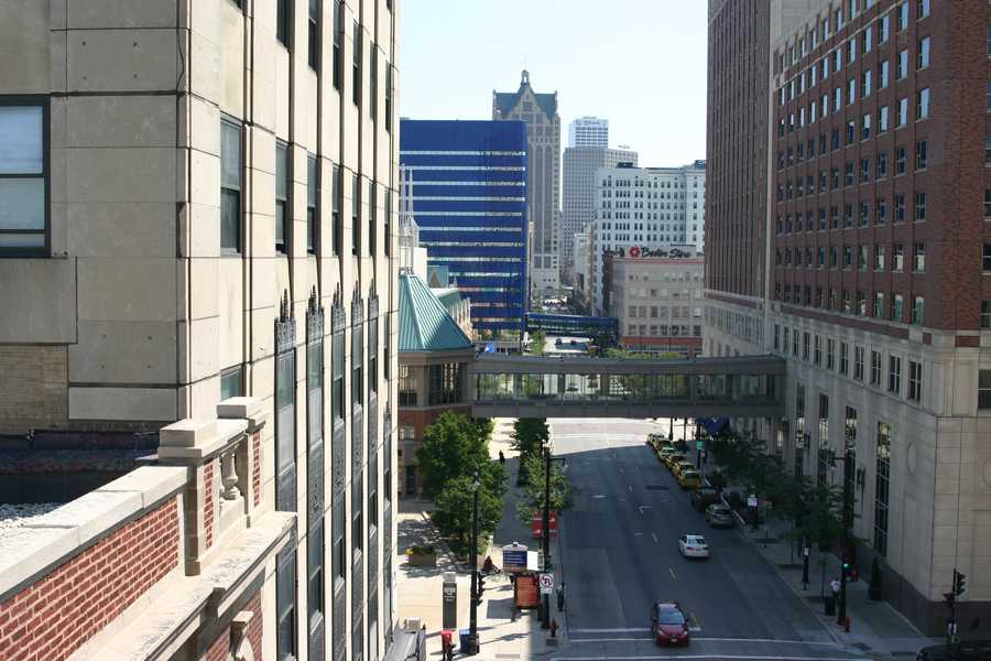 Looking East down Wisconsin Avenue.