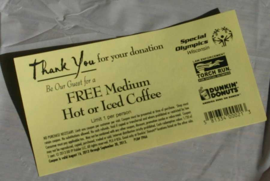 For any monetary donation people got a free medium coffee as a thank you.