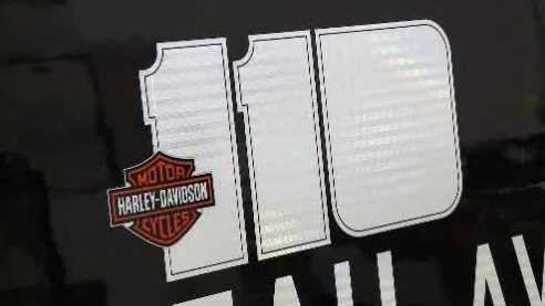 Tapco making signs for Harley-Davidson's 110th anniversary