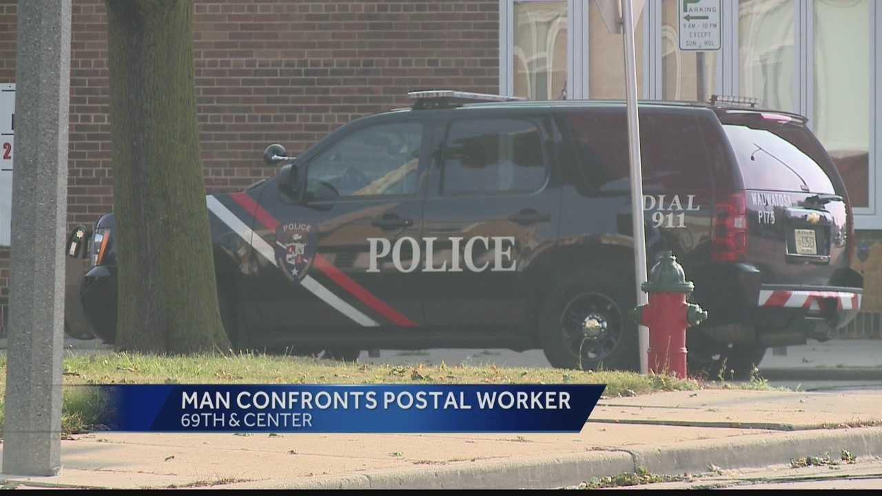 A man upset that he didn't receive a check in the mail threatened a postal worker Thursday in Wauwatosa. The man was cited with disorderly conduct.