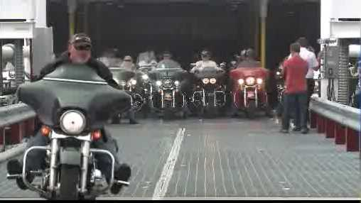 riders get off ferry
