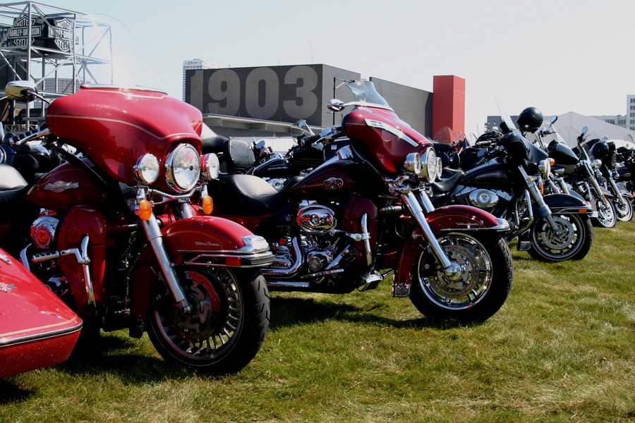 Bike parking at Harley-Davidson Museum