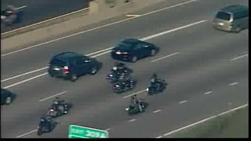 bikers on highway