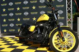Rockstar Energy Drink Harley on display.