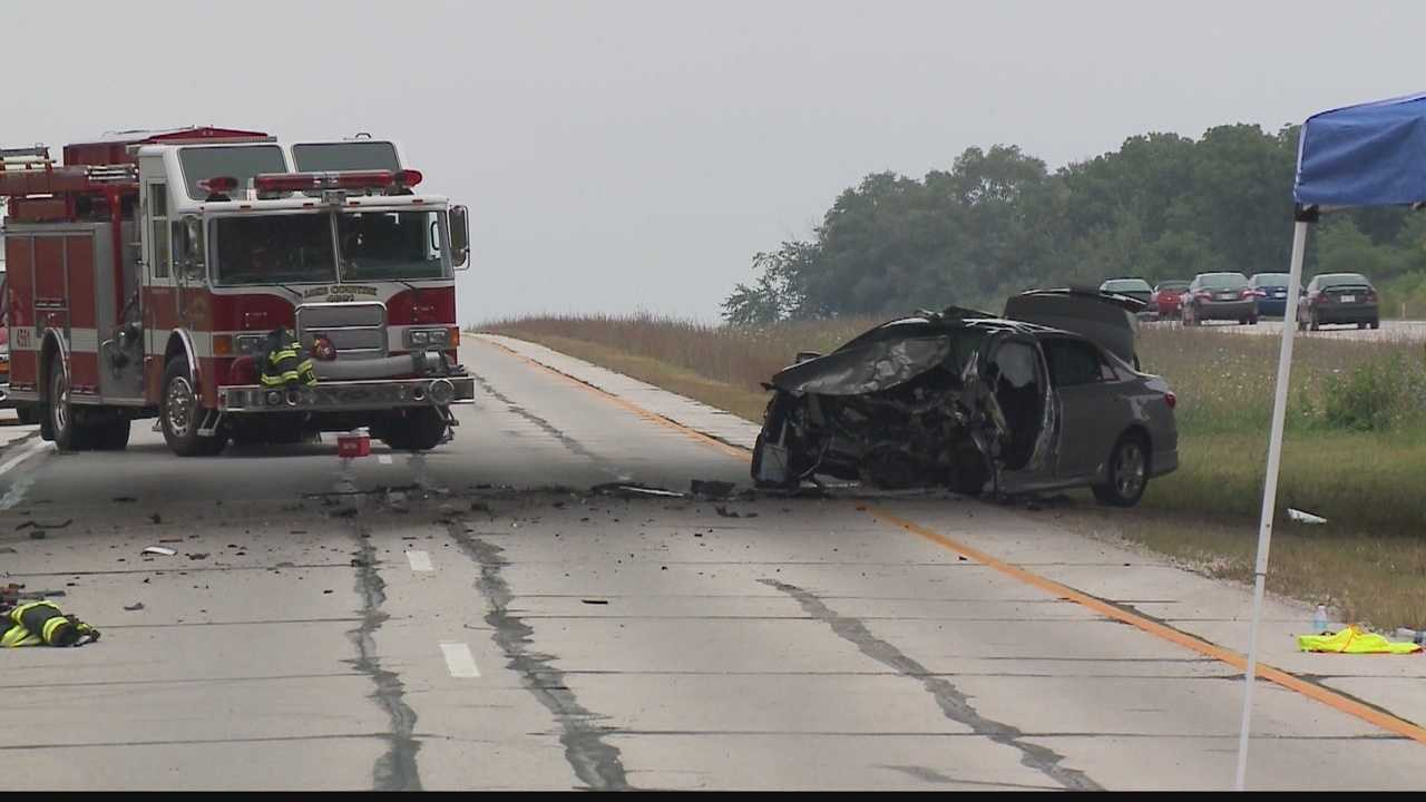 A head-on crash closes Highway 16 in Waukesha County.