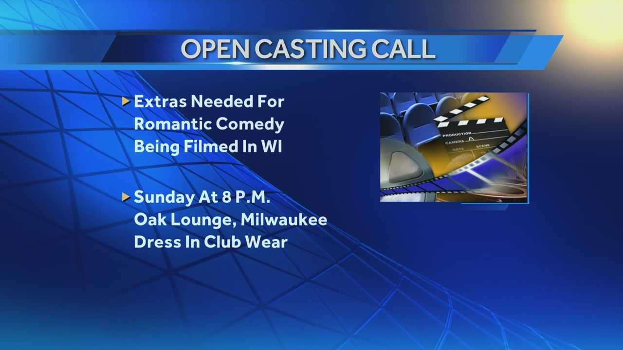 Producers of a romantic comedy film being shot in the Milwaukee area are asking for extras for some scenes being shot Sunday and Monday.