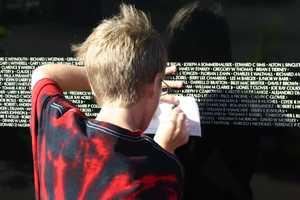The wall was on display on Prairie Springs Park in Pleasant Prairie.