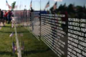 There are more than 58,000 names listed on the wall.