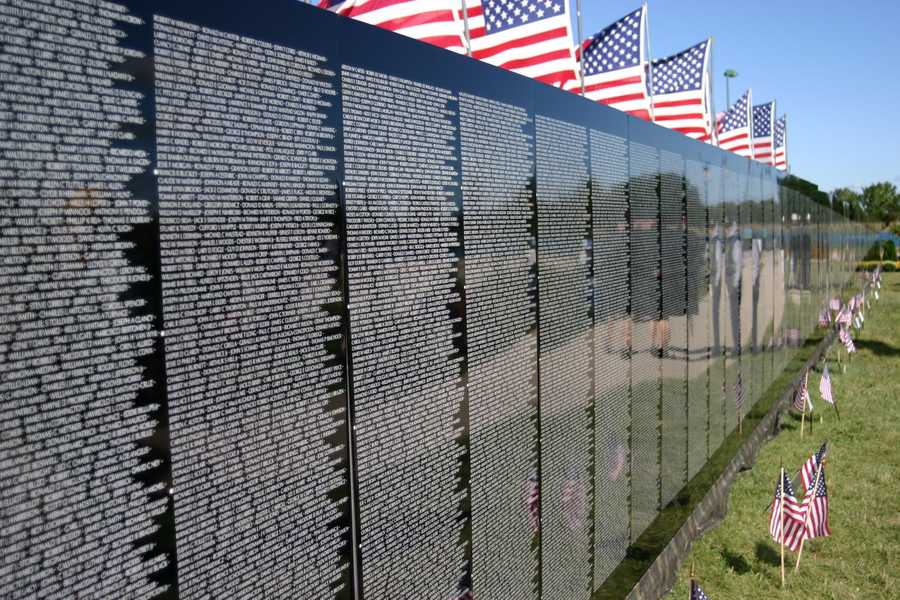 The Moving Wall, a half-scale replica of the Vietnam Memorial in Washington D.C., made a stop in Wisconsin.