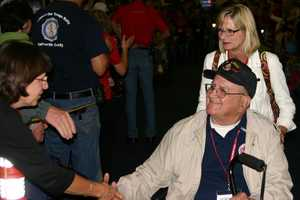 Many people just want to shake the vets hand and say 'thank you' and 'welcome home'.