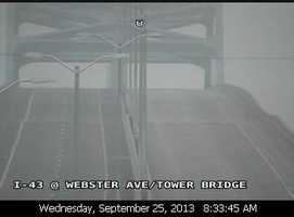 The Leo Frigo Bridge, also known as the Tower Drive Bridge in Green Bay, is closed after a dip in the pavement was reported on Sept. 25.