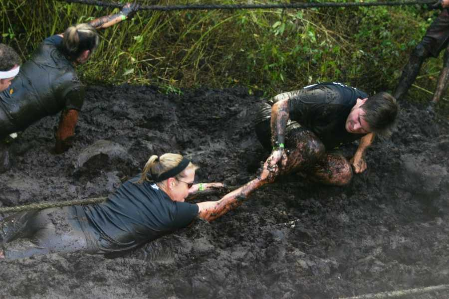 Click here to see video of the start of one the waves and one of the stickiest obstacles, a mud pit.