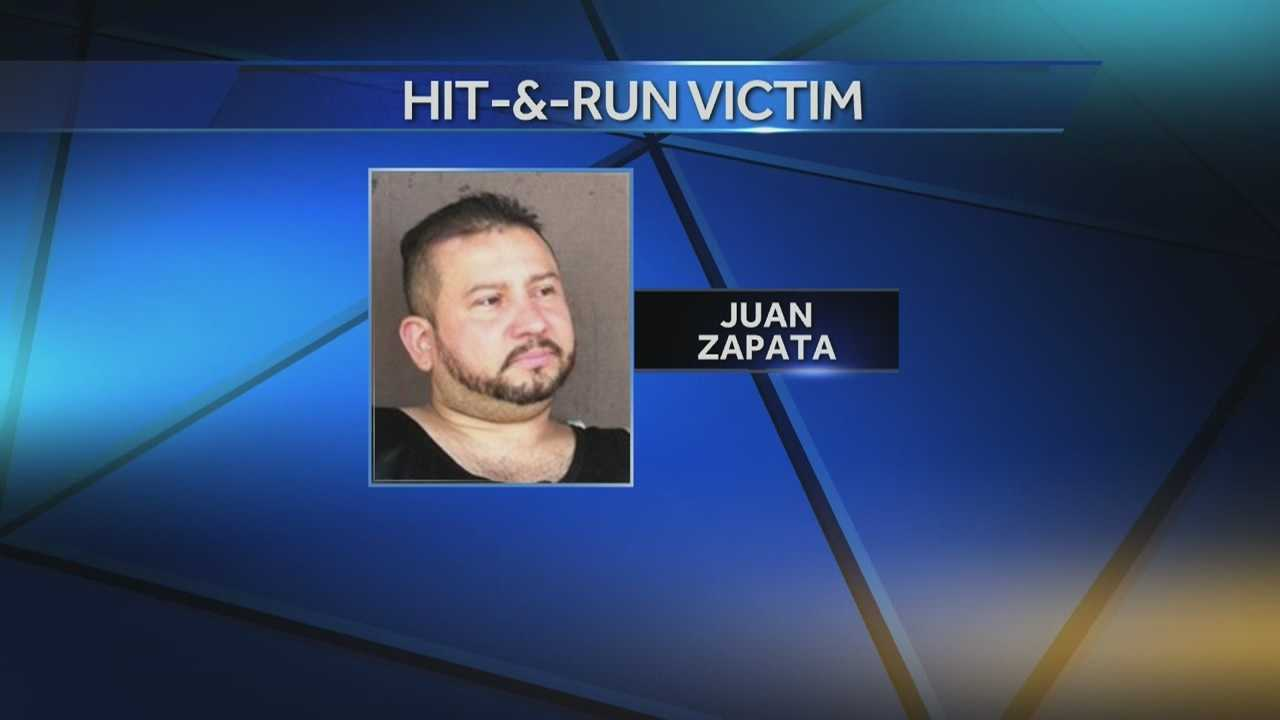 Juan Zapata, a husband and father of three, was struck and killed late Saturday night.