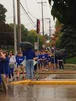 Catholic Memorial students honor fallen service members as part of the school's homecoming week activities.