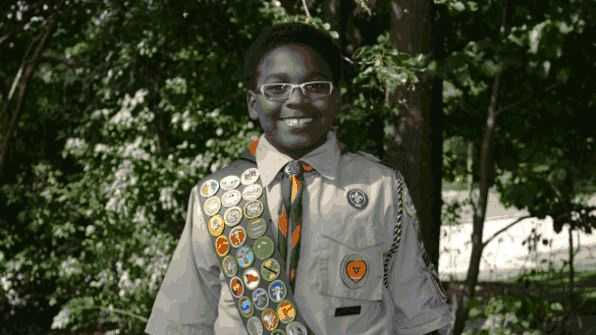 James Hightower III became the youngest African-American Eagle Scout at age 12.
