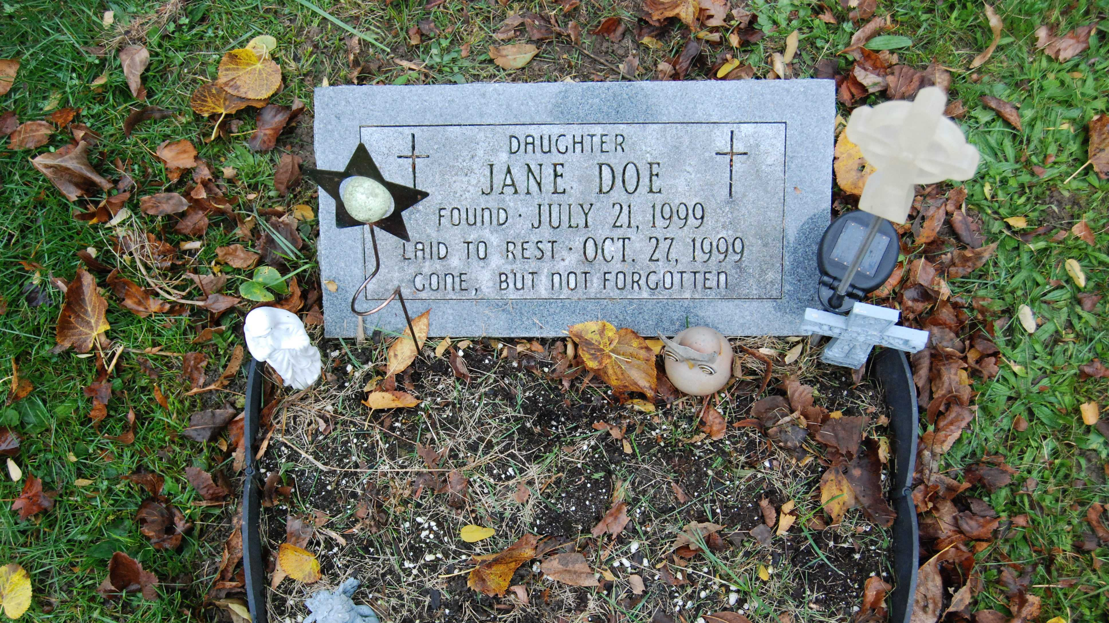 Jane Doe grave