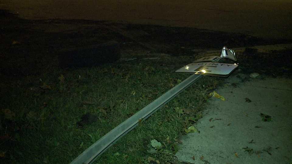 Vehicle hits pedestrian