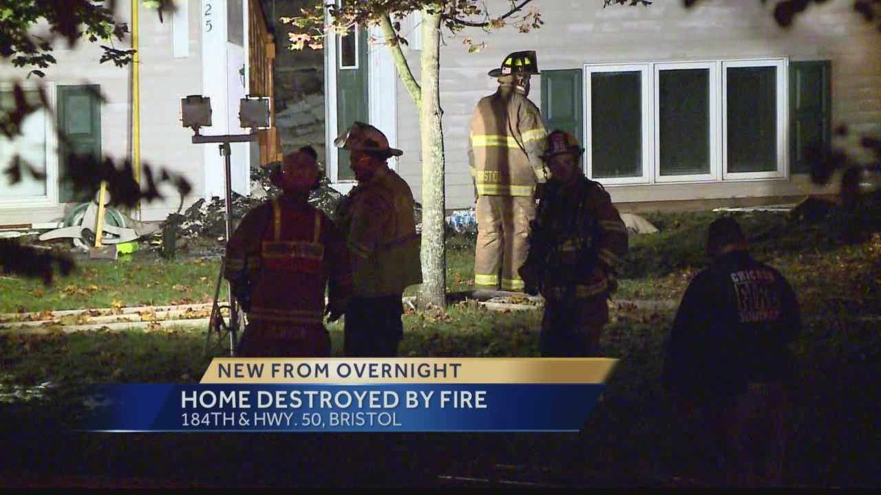 Fire destroys home in Bristol