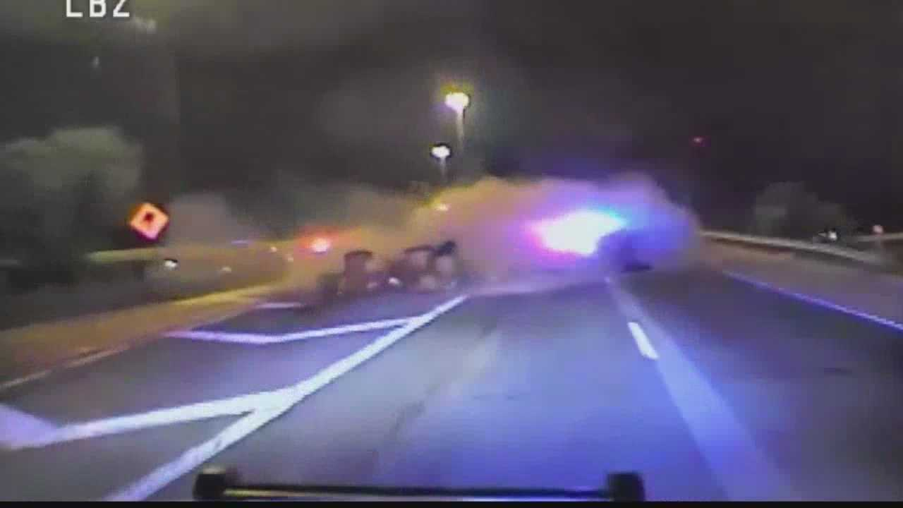 Chilling video shows chase, crash on I-94