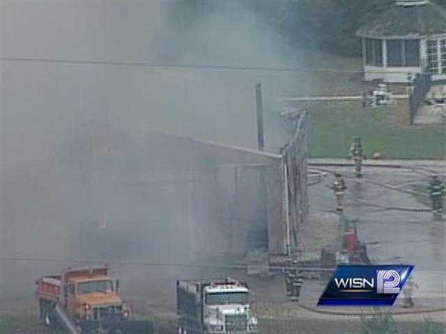 A barn fire in the Germantown area created a lot of billowing smoke that could be seen for miles.