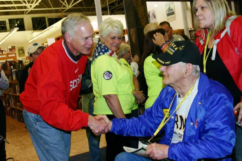 Sen. Ron Johnson was on hand to welcome home the vets.