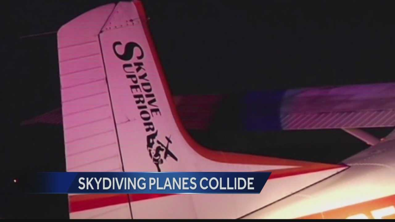 Two airplanes carrying nine skydivers collided over northwest Wisconsin Sunday. Remarkably everyone survived the accident.