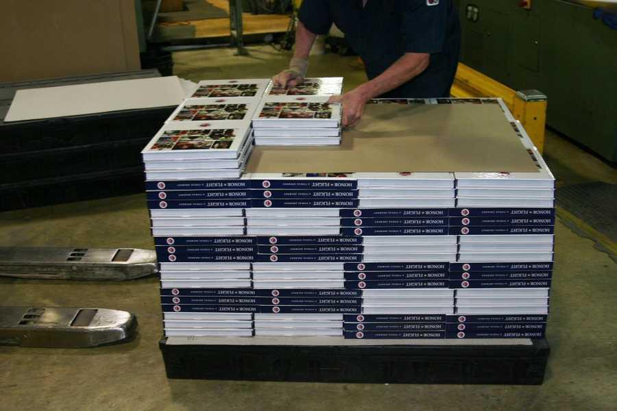 432 books on each pallet.