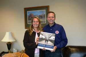 Joe Dean, SSHF Founder with Courtney Lutz from VIP (Visual Image Photography), the official photographers of Stars and Stripes Honor Flight.