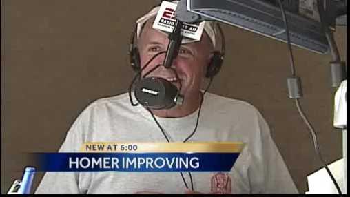 Homer on radio