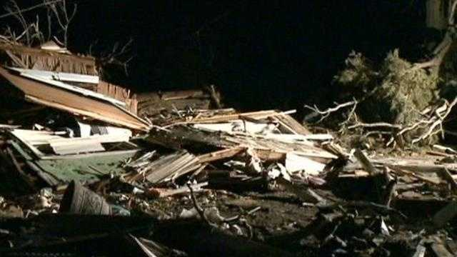 A Washington, Ill., man shows WISN 12 News what is left of his home in the wake of a tornado.