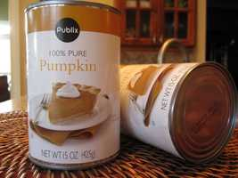 30 oz. pumpkin pie mix -  $2.91.  Down from $3.05 last year.