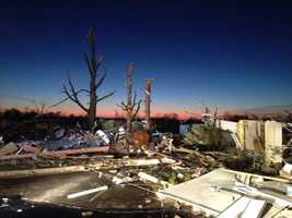 The National Weather Service determined the tornado that struck was an EF-4, with winds in excess of 166 miles per hour.