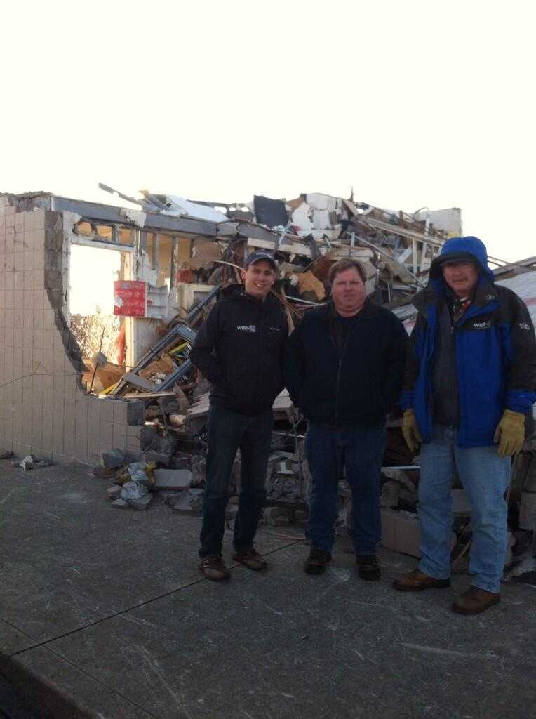 WeatherWatch 12 meteorologist Chris Gloninger, photojournalist Bob Palmer and engineer Sean Downs traveled to Washington, Illinois to get a first-hand look at the destruction from Sunday's midwest storms.