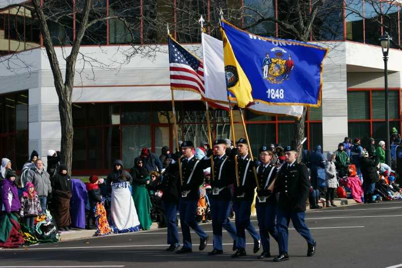 The parade went down Kilbourn Ave, turned on 3rd Street ending near the Grand Avenue Mall.