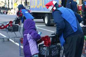 Hunger Task Force was out collecting non-perishable items along the parade route.