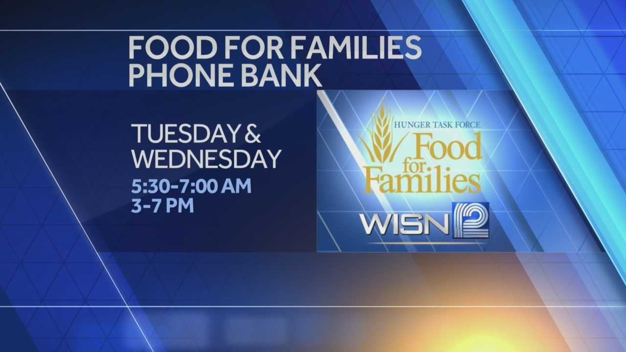 Food For Families phone bank starts Tuesday