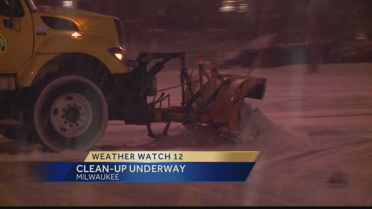 More than 100 salters are on Milwaukee city streets this morning, and more than 60 garbage trucks have been converted into plows as cleanup from Sunday's snow is underway.