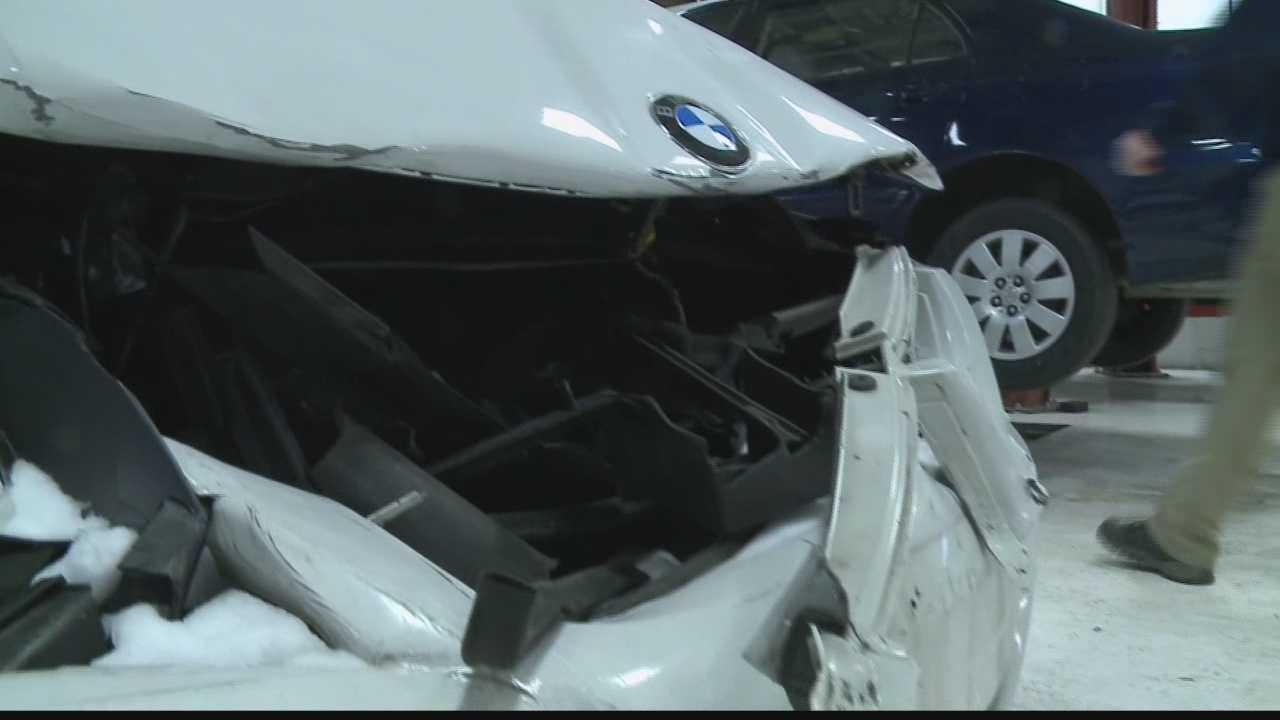 Repair shops around the Milwaukee-area were busy Monday with drivers either getting repairs or trying to prevent any future crashes.
