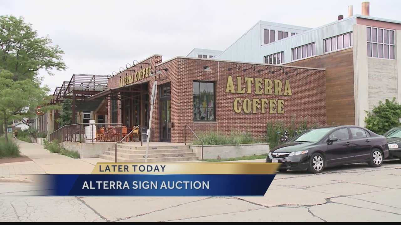 Milwaukee's Alterra Coffe changed their name to Collectivo back in July.  Today, the old Alterra signs are being auctioned off, benefiting the Hunger Task Force
